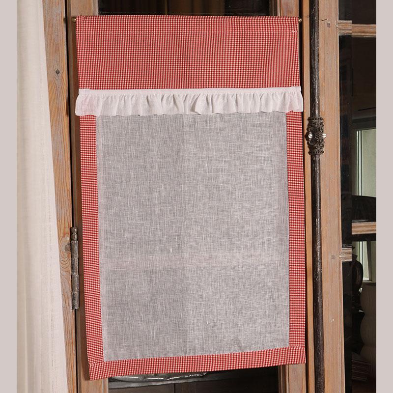 brise bise brise bise lin ivoire vichy rouge n4. Black Bedroom Furniture Sets. Home Design Ideas