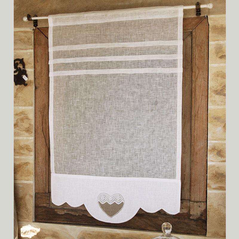 brise bise brise bise lin blanc coeur n7. Black Bedroom Furniture Sets. Home Design Ideas