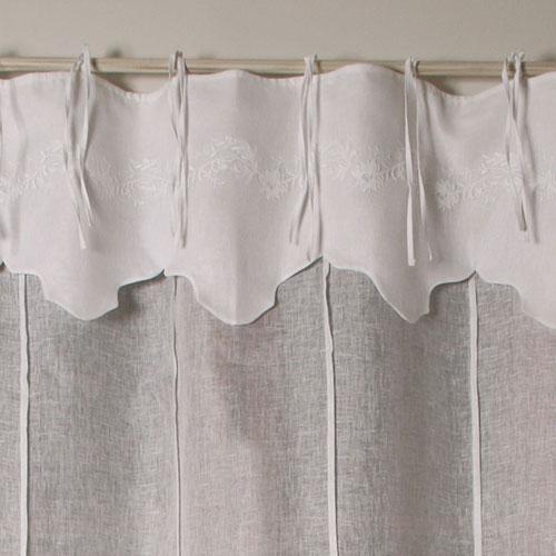 Rideaux et voilages rideau felicit lin blanc for Linge de maison lin