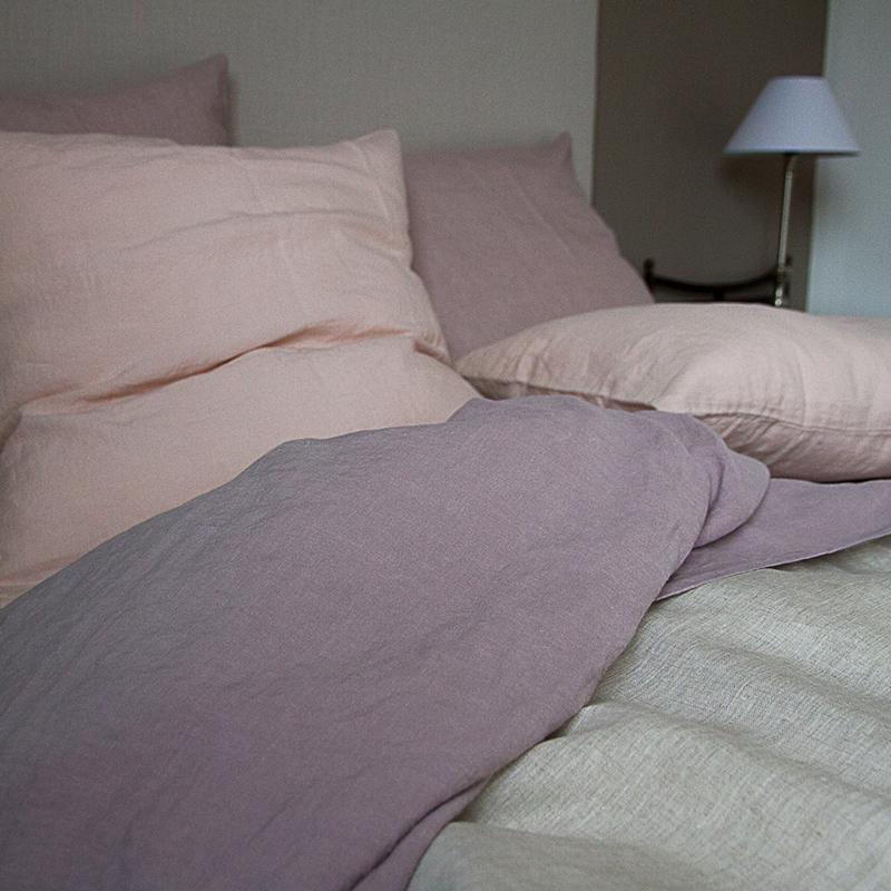 linge de lit taie d 39 oreiller lin lav. Black Bedroom Furniture Sets. Home Design Ideas
