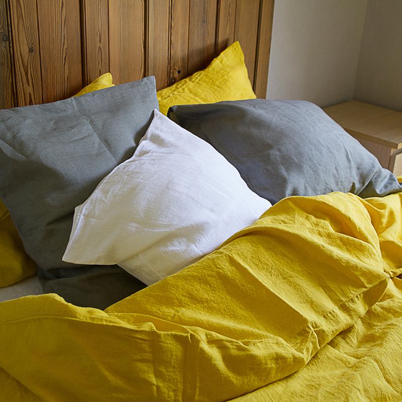 Linge de lit housse de couette lin lav for Lin des vosges housse de couette