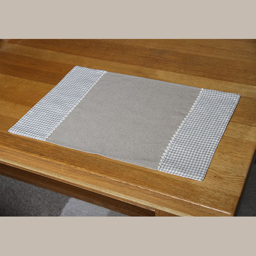 Linge de table set de table lin vichy - Linge de table raffine ...